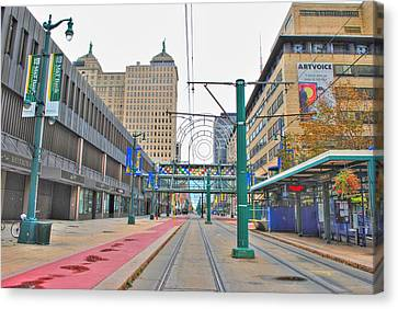 Canvas Print featuring the photograph Welcome To Dt Buffalo by Michael Frank Jr