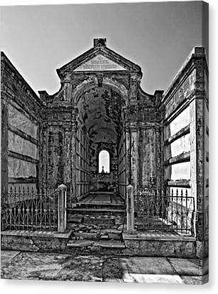 Welcome To Eternity Monochrome Canvas Print by Steve Harrington