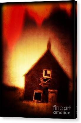 Welcome To Hell House Canvas Print by Edward Fielding