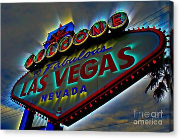 Welcome To Las Vegas Canvas Print by Kevin Moore