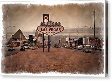 Welcome To Las Vegas Sign 1997 - Impressions Canvas Print