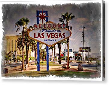 Welcome To Las Vegas Sign Series Impressions Canvas Print by Ricky Barnard