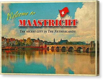 Welcome To Maastricht Canvas Print by Nop Briex