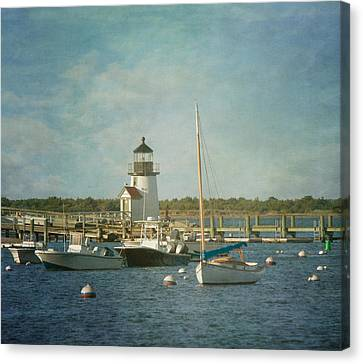 Welcome To Nantucket Canvas Print by Kim Hojnacki