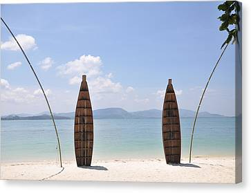 Welcome To Rang Yai Island Canvas Print by Eustaquio Santimano