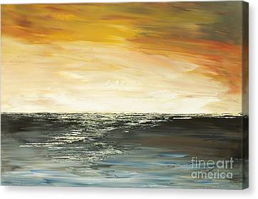 Canvas Print featuring the painting Welcome To The Maldives by Tatiana Iliina