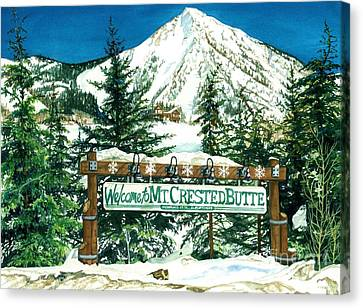 Welcome To The Mountain Canvas Print by Barbara Jewell