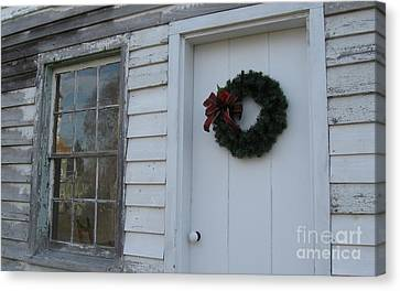 Welcoming Wreath  Canvas Print by Nancy Patterson