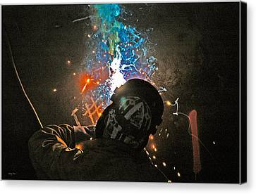 Welding Canvas Print