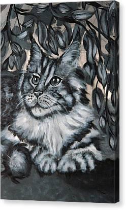Well Fed Cat Canvas Print by Elena Melnikova