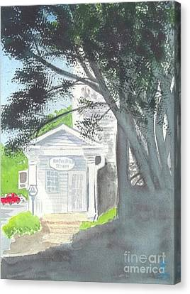 Canvas Print featuring the painting Wellers Carriage House 1 by Yoshiko Mishina