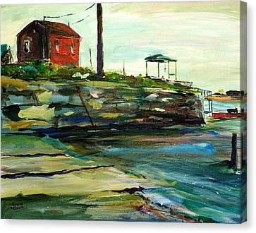 Wells Harbor Maine Canvas Print by Scott Nelson