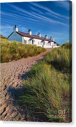 Welsh Cottages Canvas Print by Adrian Evans