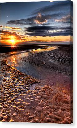 Welsh Sunset Canvas Print by Adrian Evans