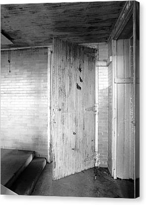 Wern Dairy Door Canvas Print by Jan W Faul
