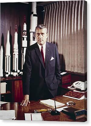 Eht10 Canvas Print - Wernher Von Braun 1912-1977 by Everett