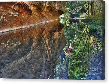 Canvas Print featuring the photograph West Fork Reflection by Tam Ryan