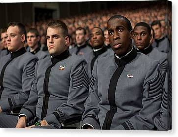 West Point Cadets Applaud President Canvas Print by Everett