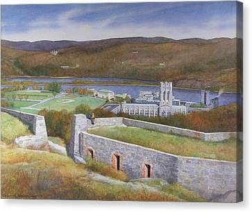 West Point From Fort Putnam  Canvas Print by Glen Heberling