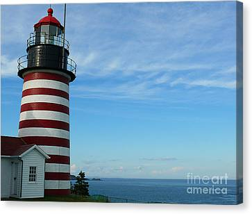 Canvas Print featuring the photograph West Quoddy Lighthouse by Jeanne  Woods