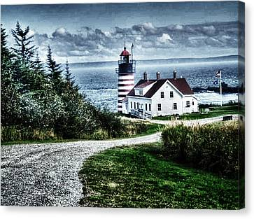 Canvas Print featuring the photograph West Quoddy Lighthouse by Kelly Reber