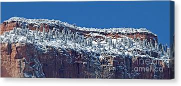 Canvas Print featuring the photograph West Temple Detail 2 by Bob and Nancy Kendrick