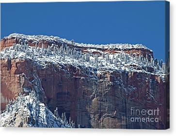 Canvas Print featuring the photograph West Temple Detail by Bob and Nancy Kendrick