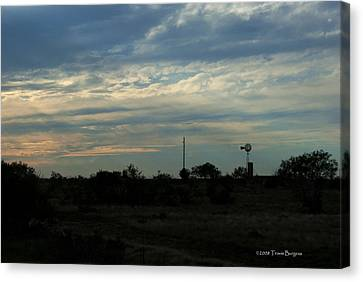 Canvas Print featuring the photograph West Texas Sunset by Travis Burgess
