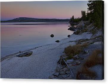 West Thumb Sunset Canvas Print