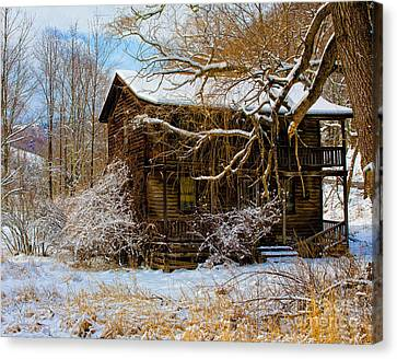 West Virginia Winter Canvas Print by Ronald Lutz