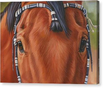 Western Braids Canvas Print by Kathleen  Hill