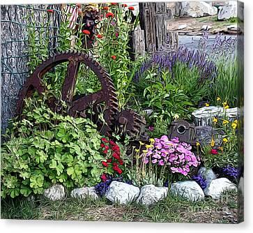 Canvas Print featuring the photograph Western Garden by Anne Raczkowski