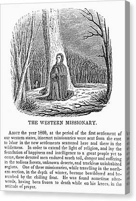 Western Missionary Canvas Print by Granger