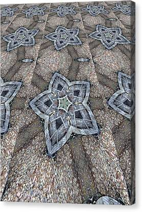 Canvas Print featuring the digital art Western Star Tile by Michelle Frizzell-Thompson