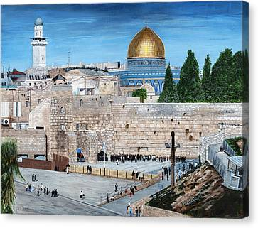 Western Wall Canvas Print by Stuart B Yaeger