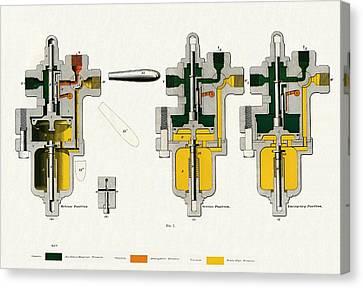 Westinghouse Air Brake Plain Triple Valve Canvas Print by Sheila Terry