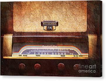 Westinghouse Fm Rainbow Tone Radio Canvas Print by Andee Design