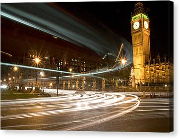 Westminster Lights Canvas Print by Copyright Michael Spry