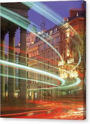Dublin Building Colors Canvas Print - Westmoreland Street, Dublin, Co Dublin by The Irish Image Collection