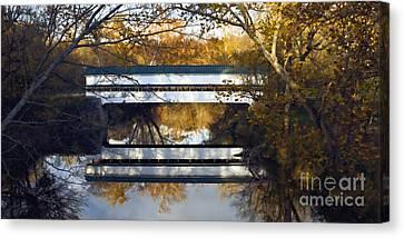 Westport Covered Bridge - D007831a Canvas Print