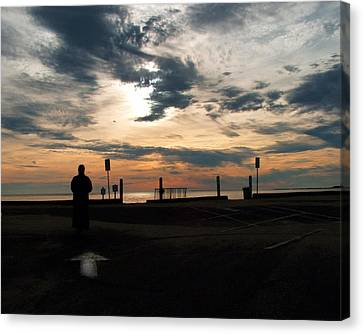 Canvas Print featuring the photograph Westward View by Michael Friedman
