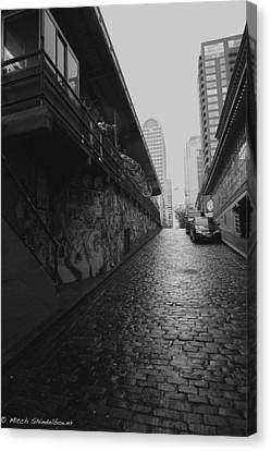 Canvas Print featuring the photograph Wet Cobbles by Mitch Shindelbower