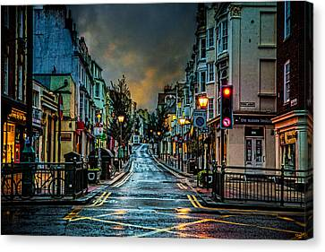 Wet Morning In Kemp Town Canvas Print by Chris Lord