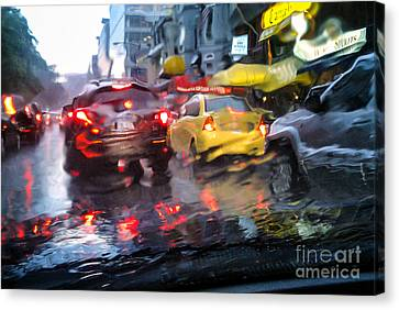 Wet Ride Home Canvas Print