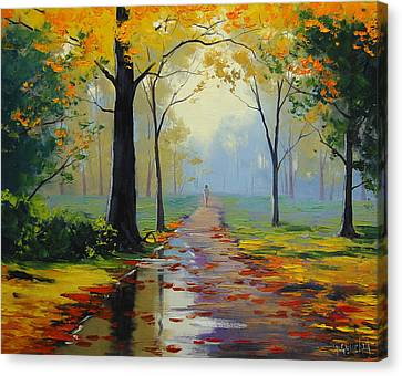 Oak Canvas Print - Wet Road by Graham Gercken
