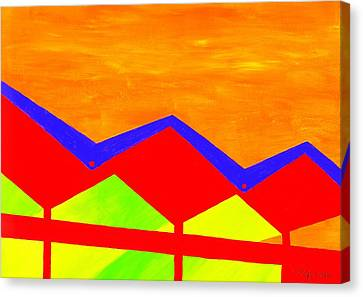 Wexler Folded Roof Four Canvas Print by Randall Weidner