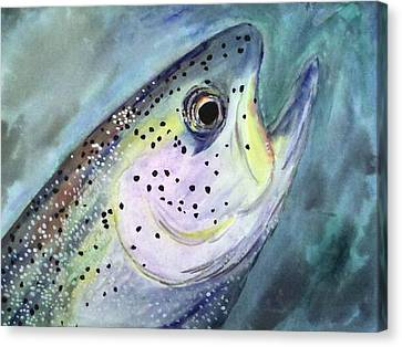 Canvas Print featuring the painting What A Beauty by Alethea McKee