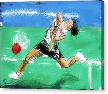 What A Racket Canvas Print by Russell Pierce