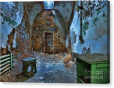 What Lies Behind The Door Canvas Print by Paul Ward