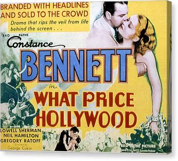 What Price Hollywood, Neil Hamilton Canvas Print